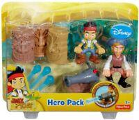 FisherPrice Jake Never Land Pirates Hero Pack Shooting Cannon Jake & Flynn New