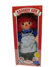 "Vintage 12"" Raggedy Ann Doll 1987, 1989 Doll with a Heart PLAYSKOOL #70101 w/Box"