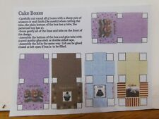 DOLL HOUSE 1/12 SET OF 5  CAKE BOXES TO MAKE