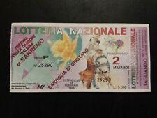 BIGLIETTO LOTTERIA  NAZIONALE SANREMO  1996