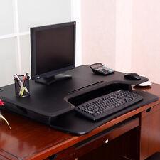 6 Height Adjustable Ergonomic Sit/Stand Computer Desk Work Station Home Office