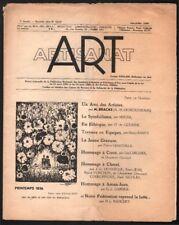 Revue. Art et Artisanat. juin-juillet 1936. Article de Mucha sur le Symbolisme