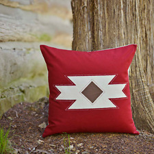 SOUTHWESTERN PILLOW : RED CABIN SOUTHWEST NATIVE QUILTED TOSS CUSHION