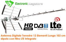 ANTENNA TV DIGITALE TERRESTRE DIRETTIVA ALTO GUADAGNO UHF DVB-T LTE 4G 10