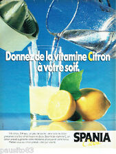 PUBLICITE ADVERTISING 056  1984  les citrons Spania  vitamines C