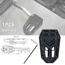 1PCS Motorcycle Bikes Aluminum Widening Non-slip Brake Pedal Pad Black w/ Screws
