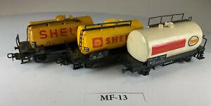Three Marklin HO Scale Shell & Esso Tank Cars MF-13