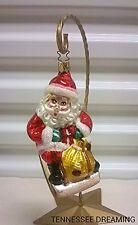 Old World Christmas Sledding Santa Ornament Enga-Glas Collection
