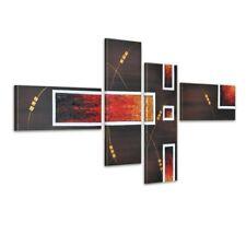 abstrakt M2 - Leinwandbild 4 teilig 120x70cm Handgemalt