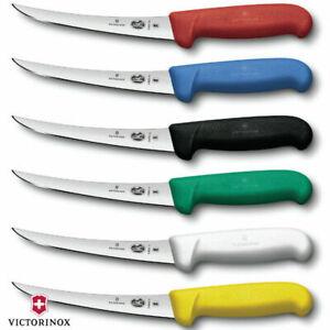 15cm Victorinox Boning Knife Curved Narrow Blade Fibrox Butcher