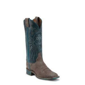 Justin Ladies Blue Haze Cowhide Boots BRL321