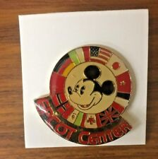 DISNEY - EPCOT CENTER - MICKEY WITH 11 COUNTRY FLAGS Lapel Tie Tack Pin