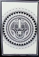 Hamsa Cotton Wall Hanging Beautiful Design Tapestry Poster Indian Handmade Art