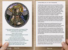 © ART - St Hilda Of Whitby Patron Saint of Learning Catholic PRAYER CARD & Info