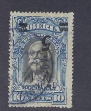 Liberia 1920, 5c on 10c Buchanan, INVERTED overprint, used, rare thus #178