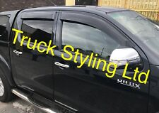 Toyota Hilux MK6/7 Wind Visors Guards Deflectors 4 Pieces 2006-2015 Models