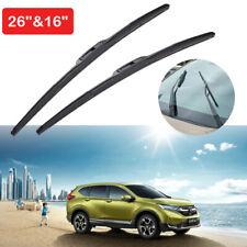 """26""""/16"""" Car Front Windshield Wiper Blades J-hook Bracket For Honda CR-V/Toyota"""