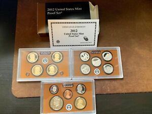 Rare 2012 US Mint Proof Set with Box/COA -14 Coins