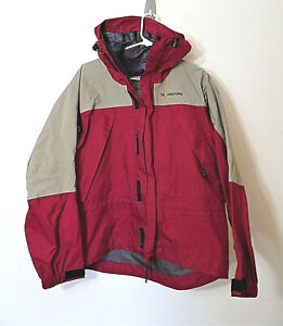 new! NWOT Moonstone Red and tan vented GORE-TEX Hooded Rain Jacket Men's S