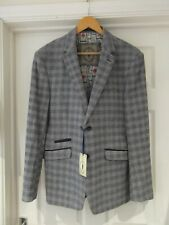 "CAVANI Smart Blazer NWT Blue/Grey/White Checked Sports Jacket Men's Size 42"""