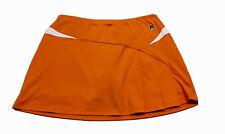 Duc Sports Womens Golf Tennis Skort Skirt Orange Compression Shorts XL EUC