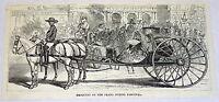 1878 magazine engraving ~ MASQUERS ON PRADO DURING ~ Cuba