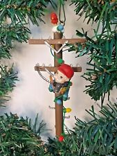 Enesco North Pole Lineman Hanging Christmas Ornament Gilmore 1988 No Box 558834