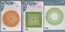 3 Lifestyle Crafts QUICKUTZ Cutting Dies SCALLOP CIRCLE SQUARES ~NEW! FREE SHIP!