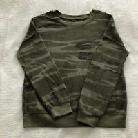 zoe + liv green camo long sleeve sweatshirt crewneck pull over size medium EUC