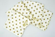 """Homewear Merry Merry Square Napkins 18"""", Set Of 4, Gold Dots, Cotton"""
