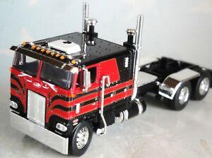 "BLACK RED PETERBILT 352 110""SLEEPER 245 FRAME SHOW PARTS 1/64  DCP 60-0603 C"
