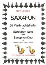 2 Hefte 30 Advents- und Weihnachtslieder für Saxophon solo/Duo Saxofon Duette !