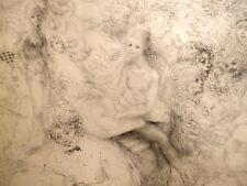 MORETTI Art Lithographie LES BAS NOIRS signée N° Paris vie Bohème Montmartre