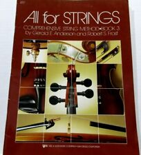 All For Strings Cello Book 3 #80Co Neil A.Kjos Music Co 1990