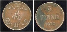 FINLANDE 5 pennia  1873