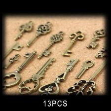 13pcs / set Antique Vintage Old Look Keys Bronze Tone Pendants Mix Jewelry Newly