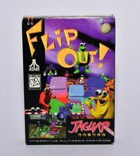 Flip Out! Atari Jaguar Complete in Box No Overlay