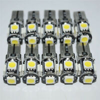 10x T10 168 194 W5W 5 SMD White Led Canbus Error Free Car Side Wedge light Bulb
