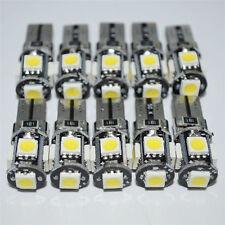 10x White Led Canbus Error Free 5 SMD Car Side Wedge light Bulb T10 168 194 W5W