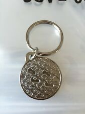 Foot Prints In The Sand Key Chain Nickel Footprints 1""