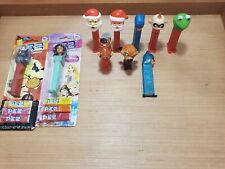 Pez Dispenser LOT! (10) 1980-New! JASMINE, batman, disney, kermit! PEZ candy Vtg