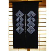 NEW Noren Japanese hanging Curtain Tapestry Indigo dye Aperture Diamond-shaped