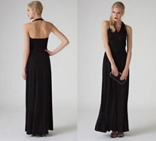 New Monsoon Lindsey Black Halterneck Maxi Evening Dress sz 12 Wedding/Coast