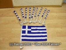 Fahnen Flagge 10 x Griechenland Auto Fahne Autoflagge - 30 x 40 cm