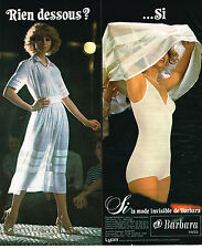 PUBLICITE ADVERTISING 044  1978  SI   la mode invisible BARBARA sous vetements