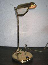 BELLE LAMPE ANCIENNE ORIENTABLE/ABAT JOUR GRILLAGÉ/EN FER ET LAITON/ANNÉES 1970
