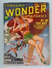 Thrilling Wonder Stories Winter 1945 VG- Parachute Blonde Cover!