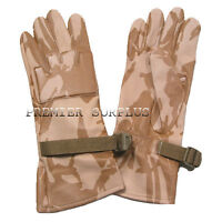 Genuine British Army Desert DPM Leather Combat Gloves, NEW