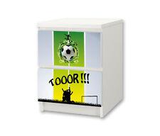 """""""Fußball"""" Möbelsticker / Aufkleber für die Kommode MALM von IKEA - NS13"""