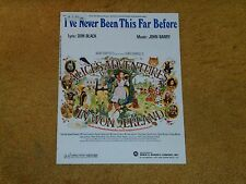 John Barry sheet music I've Never Been This Far... from ALICE'S ADVENTURES...M-